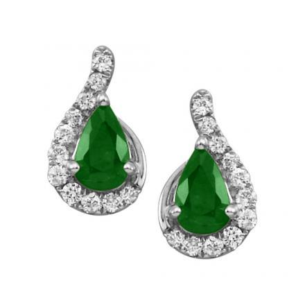 Emerald Diamond Earrings Parlé Jewelry Design